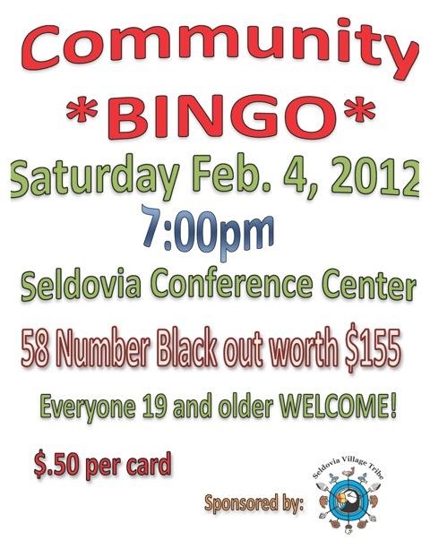 Community Bingo – Saturday Night!