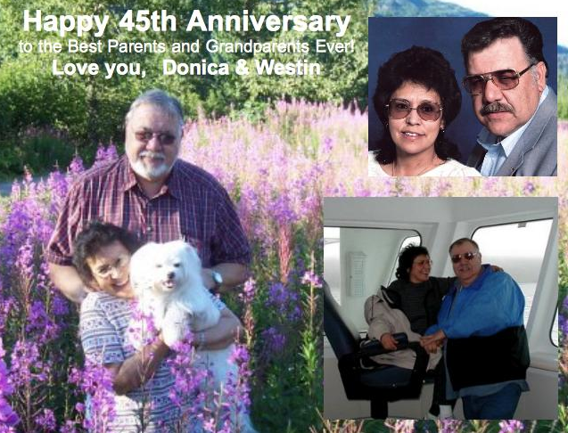 Special Wishes… Congratulations to Andy & Ann Anderson, Celebrating 45 Years Together!