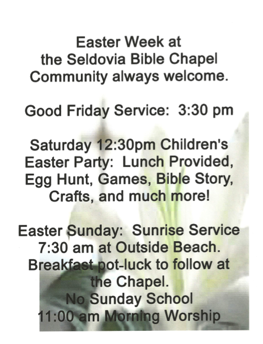 Join Us To Celebrate Easter Week