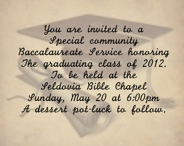 Baccalaureate Service for Seldovia Graduates