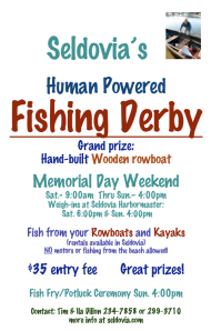 Human Powered Fishing Derby Starts Tomorrow!