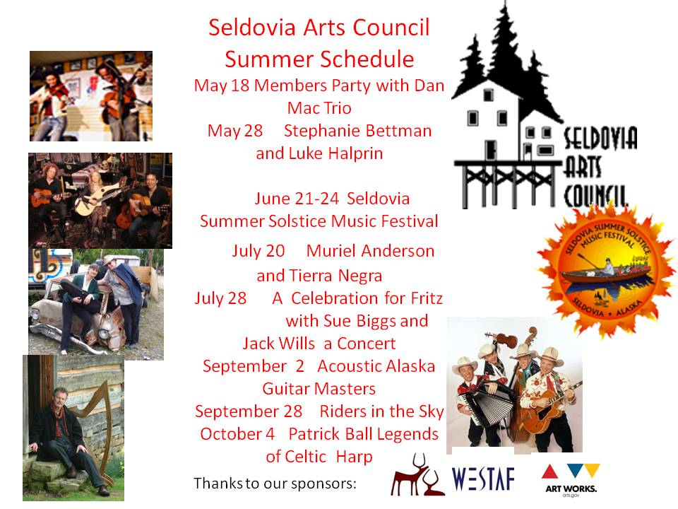 Seldovia Arts Council Shows off A Fabulous Summer Lineup!