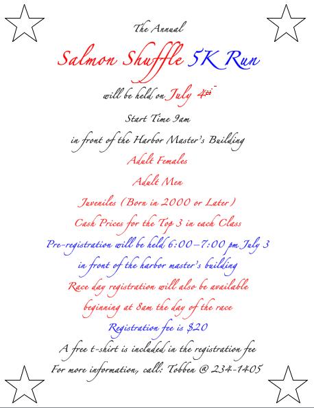 Salmon Shuffle Details