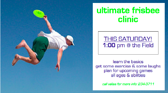 Ultimate Frisbee Clinic