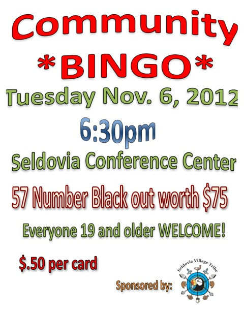 Community Bingo on Election Night