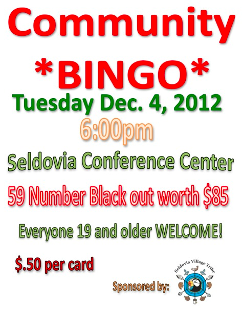 121129 Community Bingo