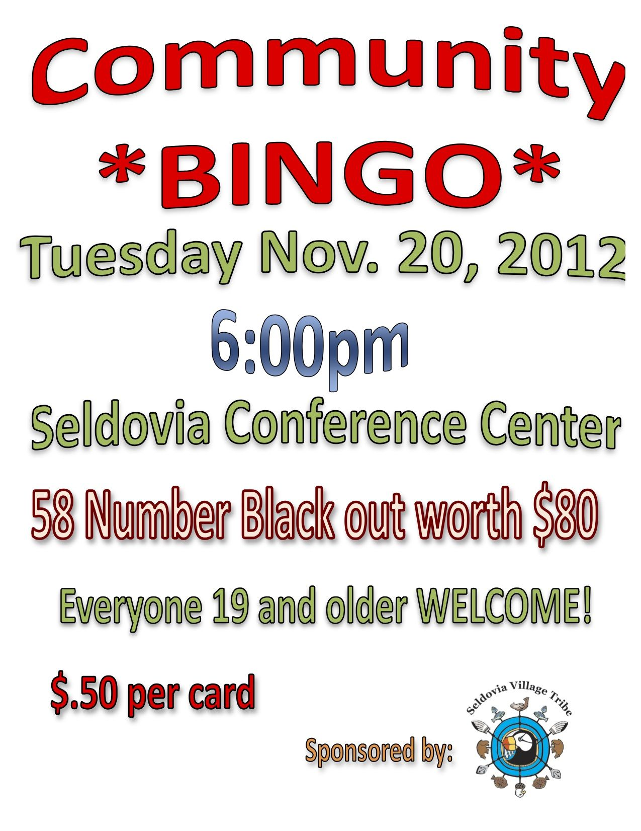 Tuesday Bingo Night
