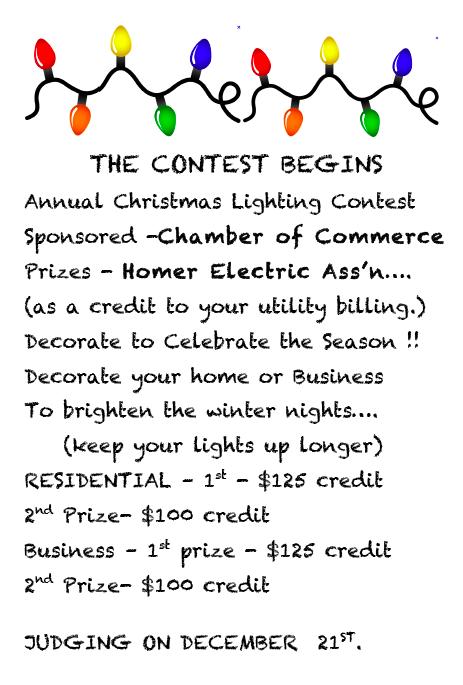 Christmas Lighting Contest Begins
