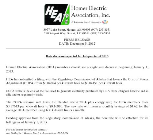 121206 HEA Rate Decrease