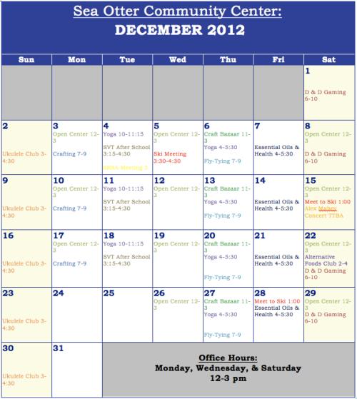 SOCC December Calendar 2012
